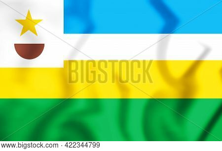 3d Flag Of Novo Progresso (para), Brazil. 3d Illustration.