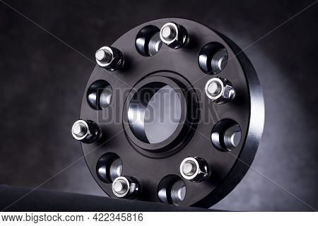 Black Wheel Spacers For Alloy Wheel, Auto Parts For Car Tuning And Wheel Departure Reduction