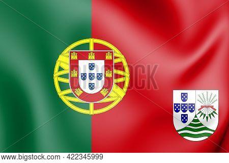 3d Flag Of Portuguese East Africa (proposal). 3d Illustration.