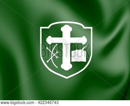 3d Flag Of Santa Isabel Do Rio Negro (amazonas State), Brazil. 3d Illustration.