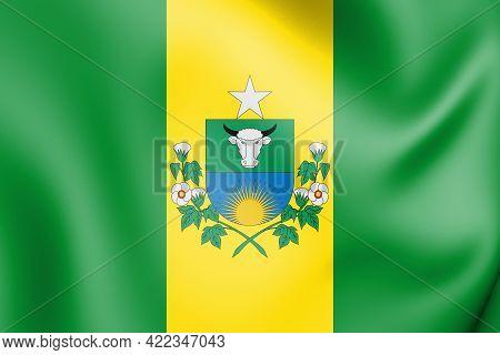 3d Flag Of Santa Quiteria (ceara), Brazil. 3d Illustration.