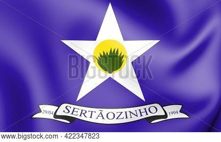 3d Flag Of Sertaozinho (paraiba State), Brazil. 3d Illustration.
