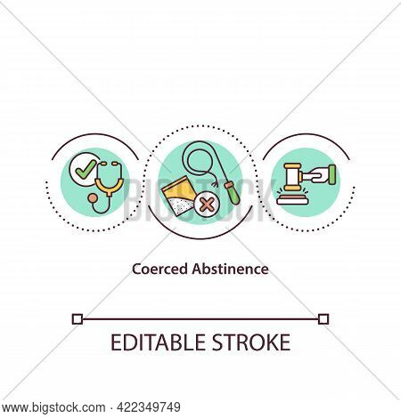 Coerced Abstinence Concept Icon. Drug Rehabilitation Strategy. Process Of Addiction Treatment Abstra