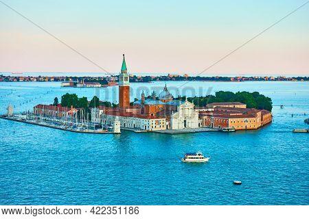 San Giorgio island in Venice, Italy. Venetian landscape