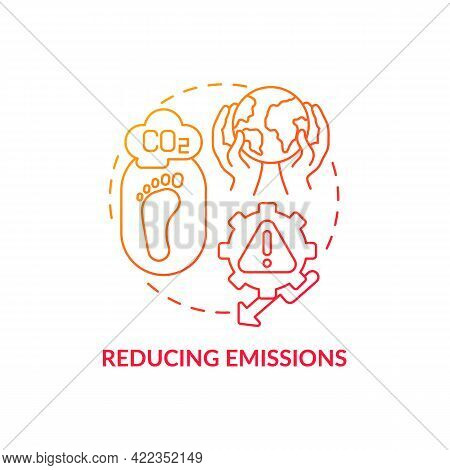 Reducing Emissions Concept Icon. Carbon Offsetting Step Abstract Idea Thin Line Illustration. Preven
