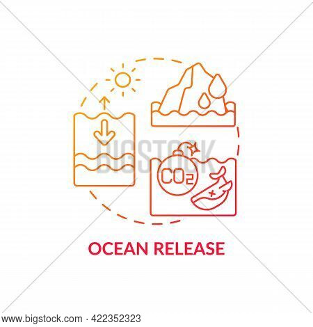 Ocean Release Concept Icon. Natural Carbon Emissions Abstract Idea Thin Line Illustration. Water Aci