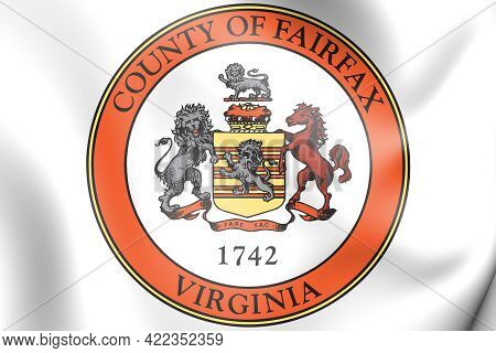 3d Seal Of Fairfax County (virginia State), Usa. 3d Illustration.