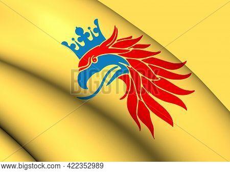 3d Skane Coat Of Arms, Sweden. 3d Illustration.