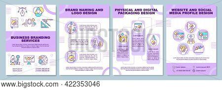 Business Branding Services Brochure Template. Brand Naming. Flyer, Booklet, Leaflet Print, Cover Des