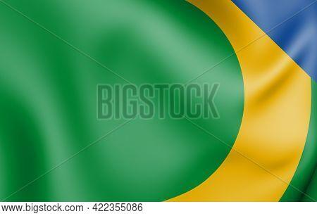 3d Flag Of Alto Alegre Dos Parecis (rondonia), Brazil. 3d Illustration.