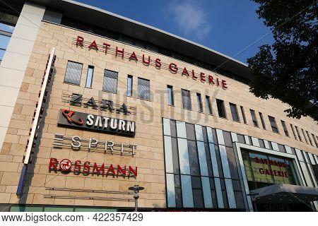 Hagen, Germany - September 16, 2020: Rathaus Galerie Shopping Mall In Hagen City, Germany. Hagen Is
