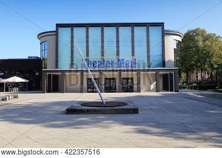 Marl, Germany - September 20, 2020: Theater Of Marl, Germany. Marl Is An Important Former Industrial