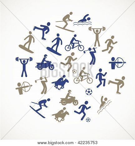 Games and sport icons