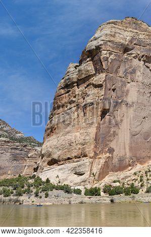 Dinosaur National Monument, Colorado.the Yampa River At Steamboat Rock.