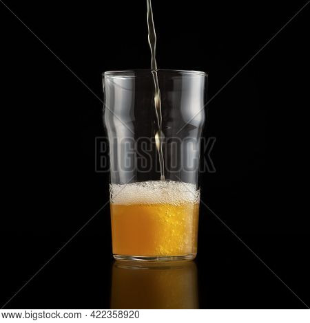 Alcoholic Beverage Pint Of Beer For Client Light