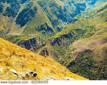 Colca Canyon - The Deepest Canyon Of The World, Peru, South America.