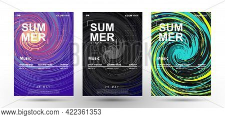 Music Covers. Swirling Tornado Of Vibrant Colors. Spinning Splash Of Paint. Club Party Flyer. Poster