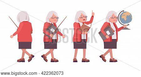 Old Teacher, Female Senior Professor, University, School Or College Tutor. Experienced Elderly Maste
