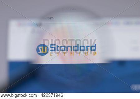 Los Angeles, California, Usa - 1 June 2021: Standard Lithium Logo Or Icon On Website Page, Illustrat