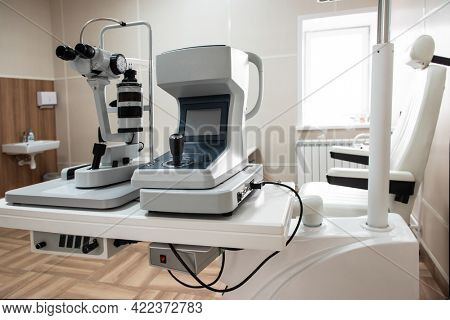Modern medical equipment in the ophthalmology office