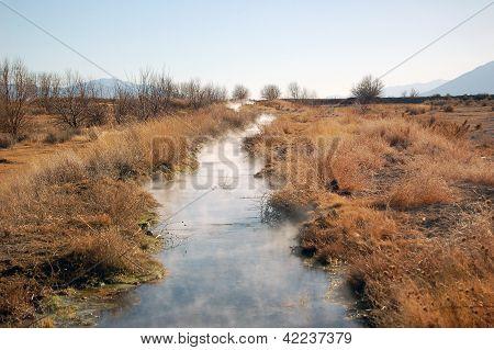 Steaming Greek In Northern Nevada Desert