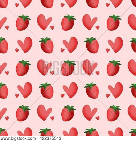 Strawberry Pattern, This Is A Seamless Pattern That You Can Use For A Variety Of Applications, Such