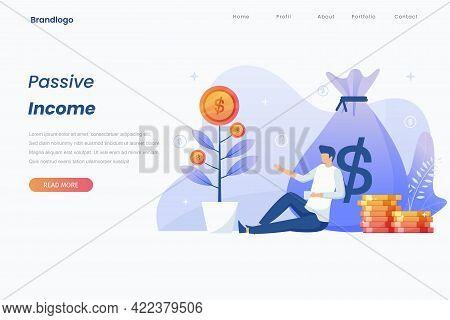 Passive Income Illustration Landing Page Concept