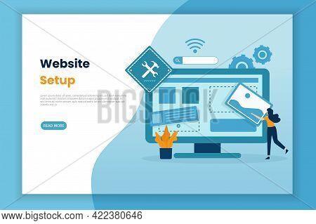 Design Illustration Of Website Settings