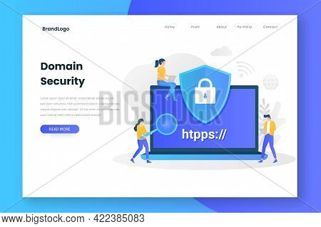 Domain Security Landing Page