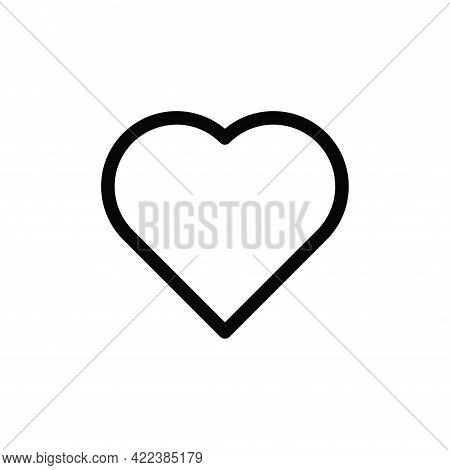 Heart Icon Isolated On White Background. Heart Icon In Trendy Design Style For Web Site And Mobile A