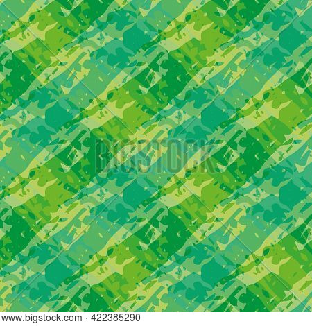 Vector Marbling Weave Style Seamless Pattern Background. Painterly Brush Effect Criss Cross Backdrop