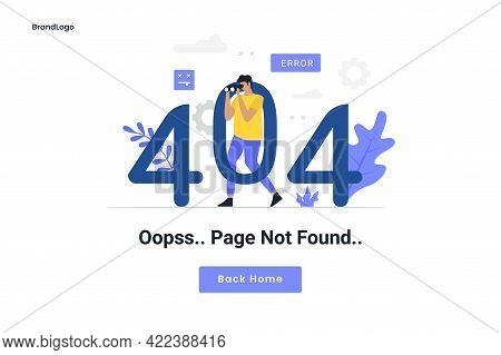 404 Maintenance Error Landing Page Illustration