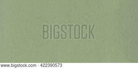 Clean Green Kraft Cardboard Paper Background Texture. Vintage Cardboard Wallpaper. Horizontal Banner