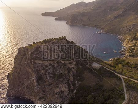 The Beautiful Aerial View Of Ancient City Antiochia Ad Cragum Near Gazipasa, Antalya, Turkey