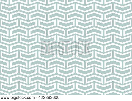 Geometric Vector Pattern With Light Blue And White . Geometric Modern Ornament. Seamless Abstract Ba