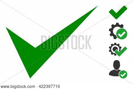 Yes Sign Icon With Flat Style. Isolated Vector Yes Sign Icon Image On A White Background, Simple Sty