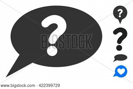 Unknown Message Icon Designed In Flat Style. Isolated Vector Unknown Message Icon Illustrations On A