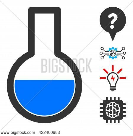 Flask Icon With Flat Style. Isolated Vector Flask Icon Image On A White Background, Simple Style. So