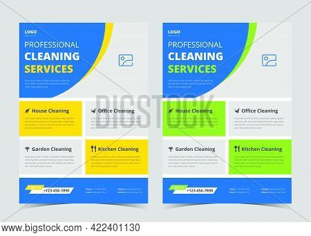 Cleaning Service Flyer Template. Cleaning Service Promotional Poster Flyer Template. Cleaning Servic