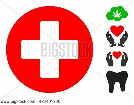 Medicine Icon Designed In Flat Style. Isolated Vector Medicine Icon Image On A White Background, Sim
