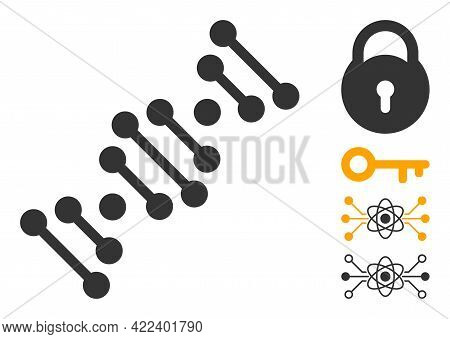 Genome Code Icon With Flat Style. Isolated Vector Genome Code Icon Image On A White Background, Simp