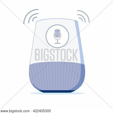 Voice Controlled Speaker And Personal Assistent At Home. Personal Assistant And Voice Recognition Co