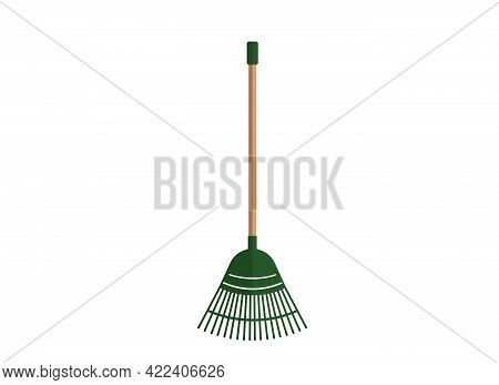 Vector Illustration Of Rakes For Cleaning. Garden Tools.
