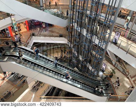 Tel-aviv, Israel - May 03, 2021: Modern Interior Of Azrieli Shopping Center In Tel-aviv