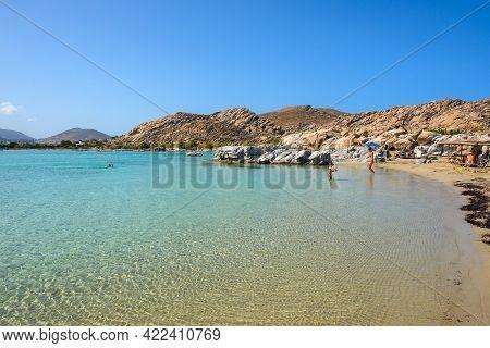 Paros, Greece - September 29, 2020: Kolymbithres Beach On Paros Island, Cyclades, Greece