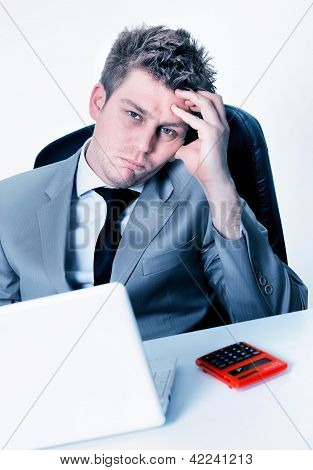 Breakdown Of Businessman At The Office
