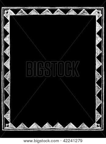 Chalk Board Rustic Frame Border