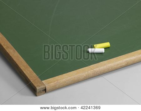 Black Board And Crayons