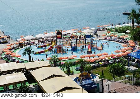 Sochi, Russia, July 27, 2019: The Best Resort In The South Of Russia, The Black Sea And Parks, A Vie