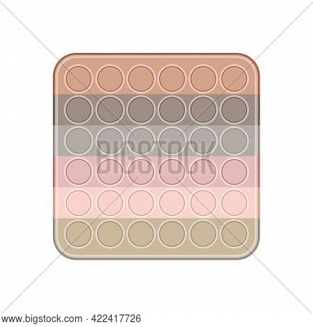 Pop It Square In Delicate Pastel Shades Of The Rainbow. Beige Pop It In Trendy Colors. Trend Of 2021
